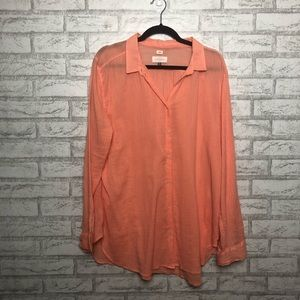 Ann Taylor Oversized Softened Shirt Button Up